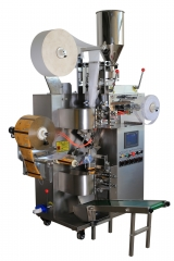 AUTOMATIC TEABAG PACKING MACHINE WITH THREAD, TAG AND OUTER ENVELOPE